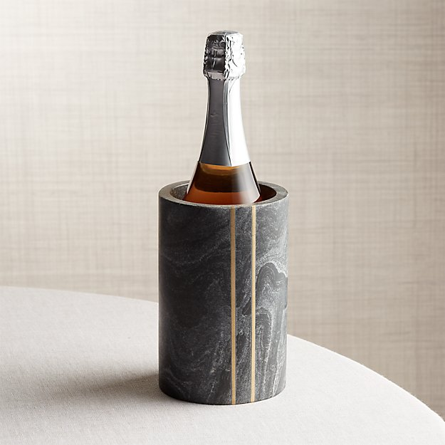Hayes Black Marble Wine Cooler - Image 1 of 12