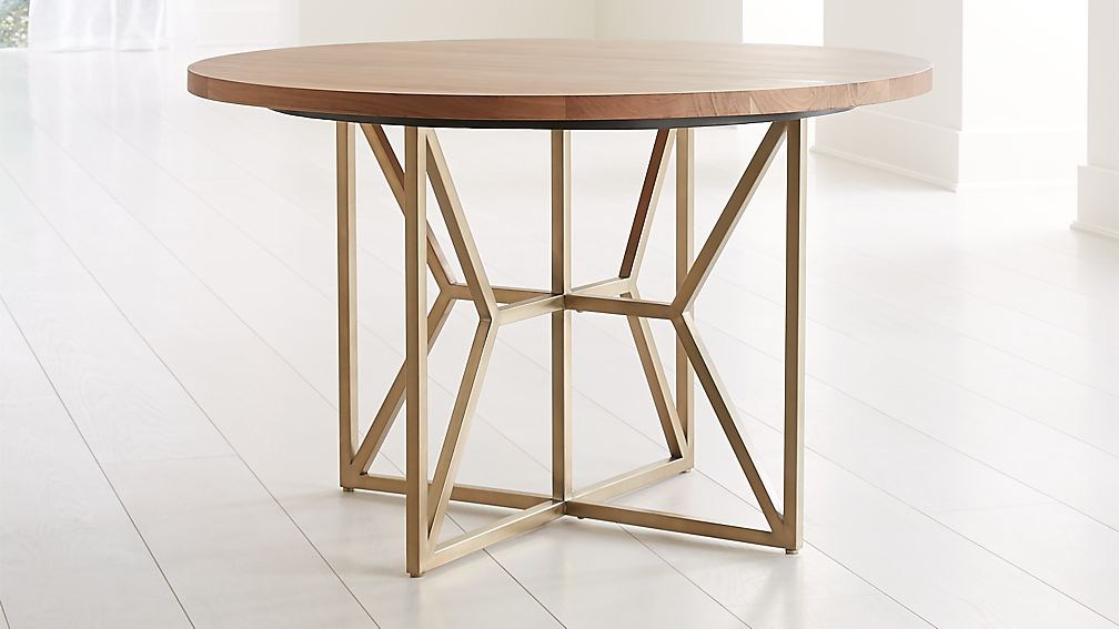 "Hayes 48"" Round Acacia Dining Table - Image 1 of 6"