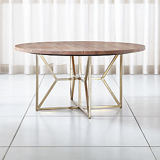 """Hayes 60"""" Round Acacia Dining Table"""