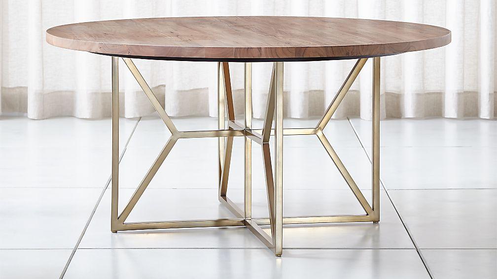 "Hayes 60"" Round Acacia Dining Table + Reviews"