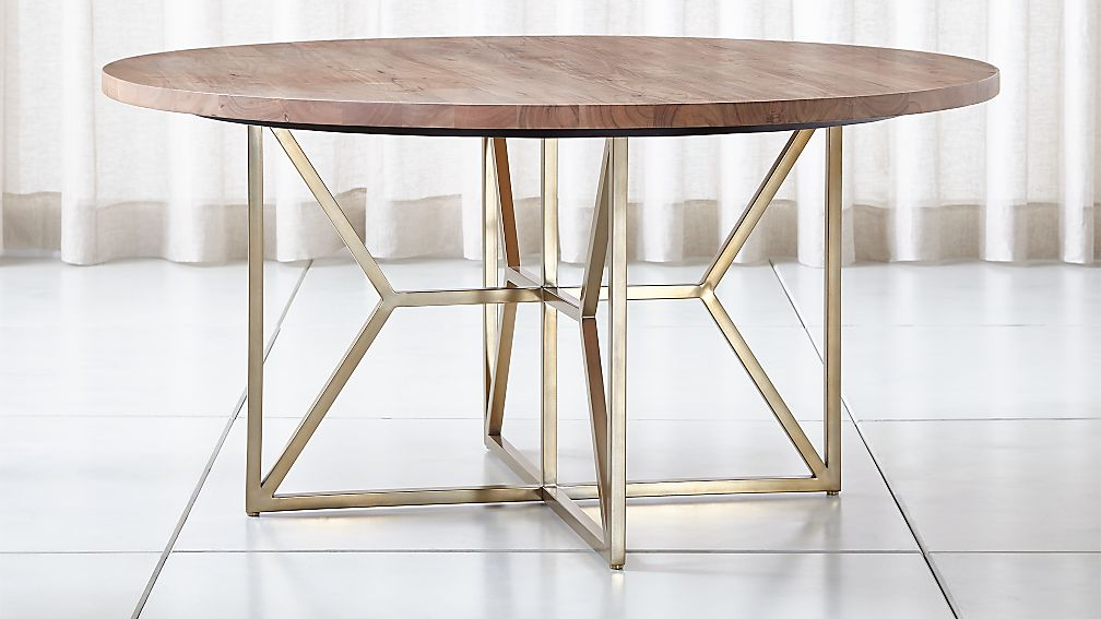 "Hayes 60"" Round Acacia Dining Table - Image 1 of 8"