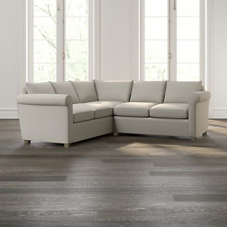 Hayward 2-Piece Left Arm Corner Sofa Rolled Arm Sectional | Crate and Barrel