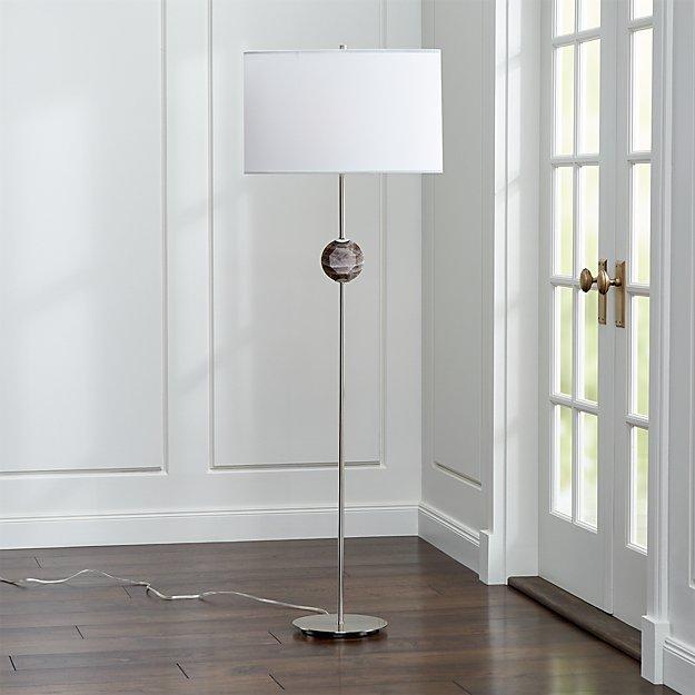 Hazel Smoke Quartz Floor Lamp