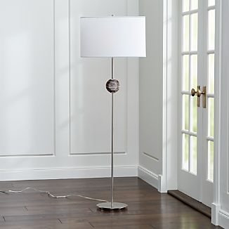 Hazel Smoke Quartz Floor Lamp