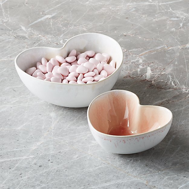 Heart Bowls, Set of 2 - Image 1 of 4