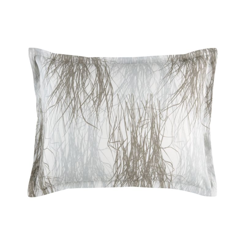 """Created by legendary designer Maija Isola in 1957, Heina (""""hay"""") is part of the Luonto (""""nature"""") series of plant-themed patterns in which she used a film printing technique to capture a sense of photo-realism. Rather than sketching or painting the artful sprigs of hay, Maija arranged actual grasses on a clear plate or blank piece of paper, which was then exposed onto a printing stencil. The images slightly overlap on the finished fabric, drawing on wind-swept prairies. Bed pillows also available.<br /><br /><NEWTAG/><ul><li>Pattern designed by Maija Isola; 1957</li><li>100% cotton percale</li><li>300-thread-count</li><li>Machine wash cold</li><li>Made in Pakistan</li></ul>"""