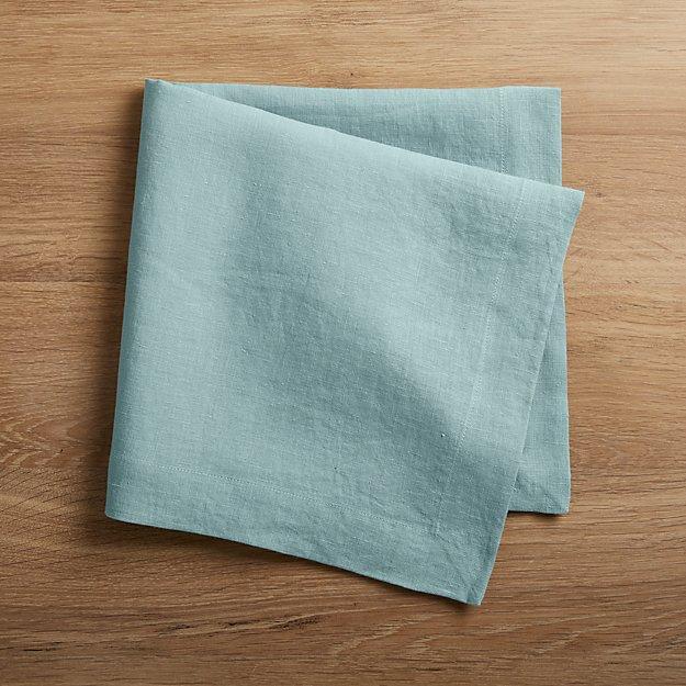 Helena Blue Mist Linen Napkin - Image 1 of 5