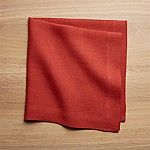 Helena Chili Red Linen Dinner Napkin
