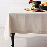 Helena Dark Natural Linen Tablecloth 60 x90