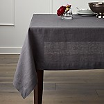 Helena 60 x120  Graphite Grey Linen Tablecloth