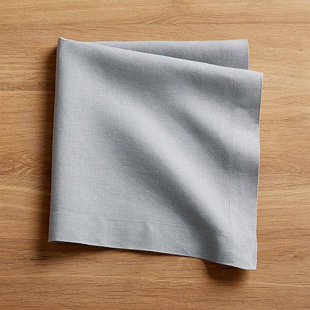 Helena Grey Linen Napkin - Image 1 of 5