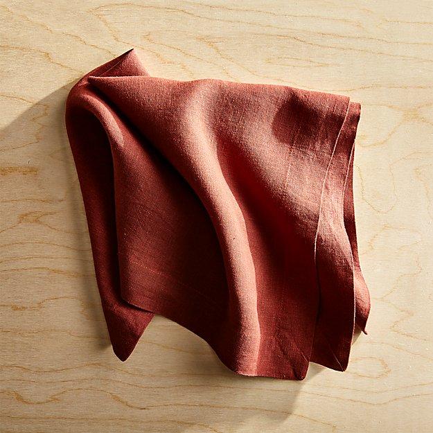 Helena Henna Linen Napkin - Image 1 of 5