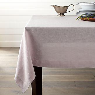 "Helena 60""x120"" Lilac Purple Linen Tablecloth"