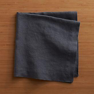 helena graphite linen dinner napkin