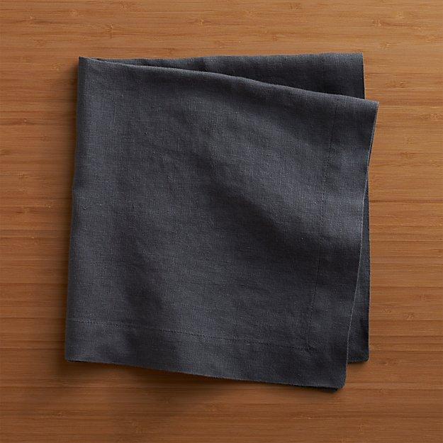 Helena Graphite Linen Dinner Napkin - Image 1 of 12
