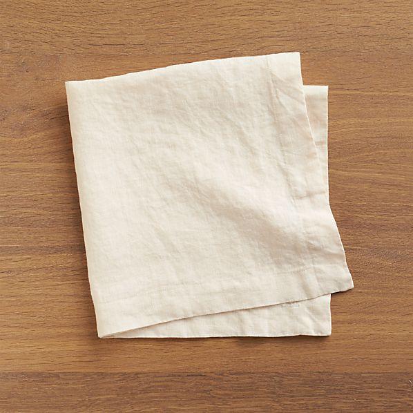 Set of 4 Helena Natural Linen Napkins
