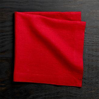 Helena Red Linen Napkin