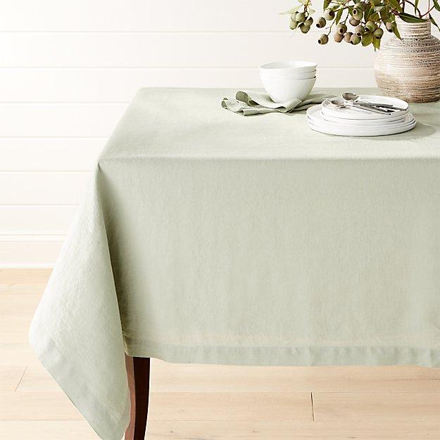Helena Sage Green Tablecloth
