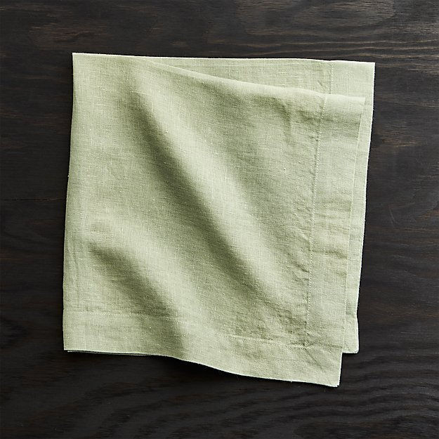 Helena Sage Green Linen Dinner Napkin Crate And Barrel