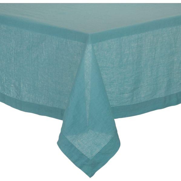 """Helena Aqua 60""""x90"""" Tablecloth"""