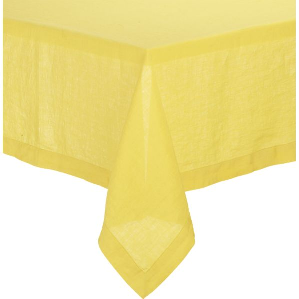 "Helena Mustard 60""x90"" Tablecloth"