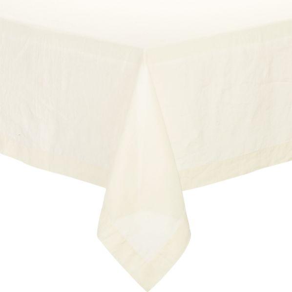 "Helena Vanilla 60""x120"" Tablecloth"