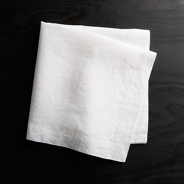 Helena White Linen Napkin - Image 1 of 9