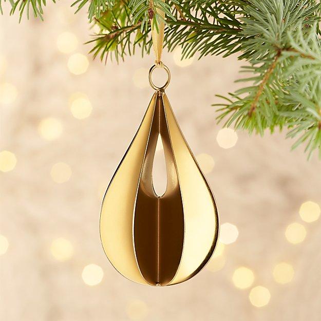 Helix Gold Drop Ornament
