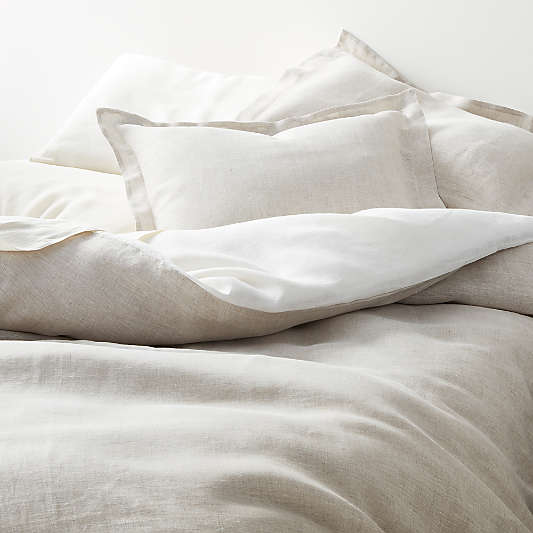 Natural Hemp Duvet Covers and Shams