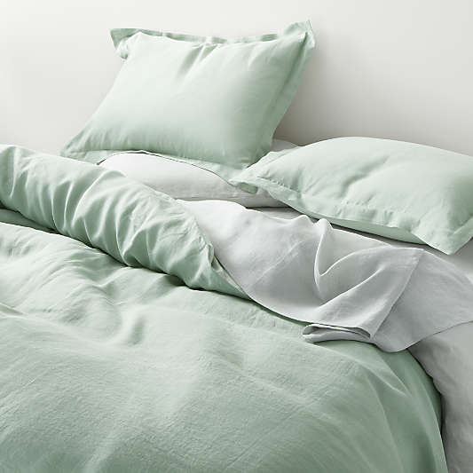 Seaglass Hemp Duvet Covers and Pillow Shams