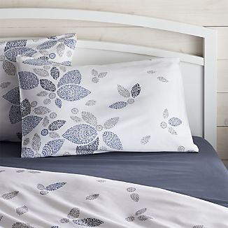 Henna Leaf Blue Standard Pillow Sham
