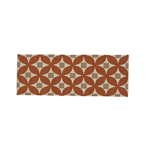 Henny Orange Wool 2.5'x7' Rug Runner