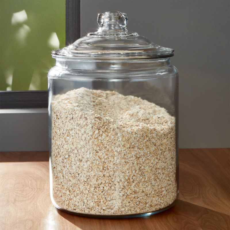 Heritage Hill 256 Oz Glass Jar With Lid Reviews Crate And Barrel