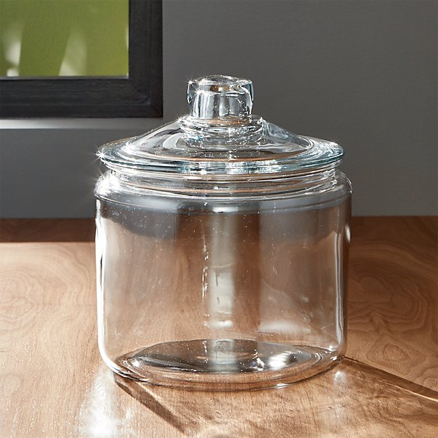 Heritage Hill 96 Oz Glass Jar With Lid Crate And Barrel