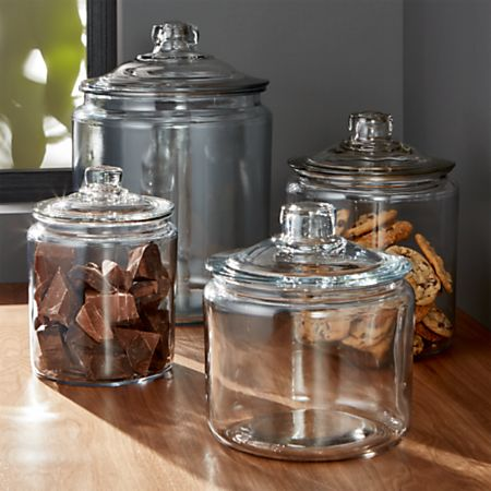 f45aba88712a Heritage Hill Glass Jars with Lids