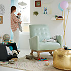 View product image Faux Leather Gold Pouf - image 6 of 11