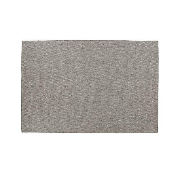 Herringbone Grey Wool-Blend 9'x12' Rug