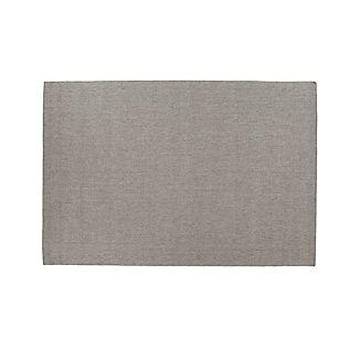 Herringbone Grey Wool-Blend 5'x8' Rug