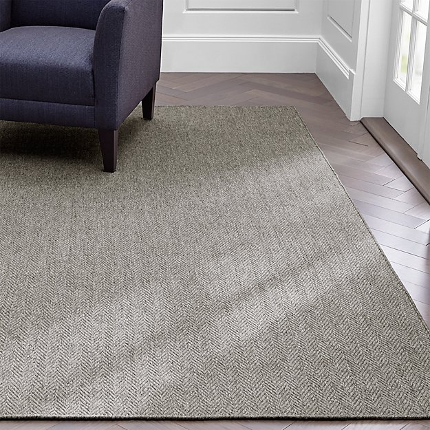 grey herringbone rug 4 39 x6 39 in area rugs reviews crate. Black Bedroom Furniture Sets. Home Design Ideas