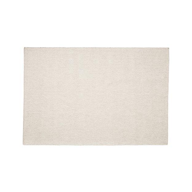 Herringbone Ivory Wool-Blend 4'x6' Rug