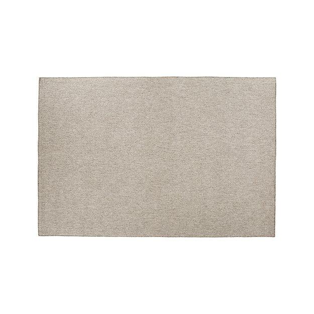 Herringbone Silver Wool-Blend 8'x10' Rug