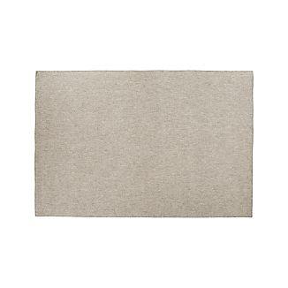 Herringbone Silver Wool-Blend 5'x8' Rug