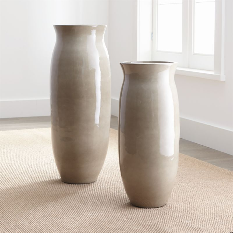 Hewett Ceramic Floor Vases Crate And Barrel