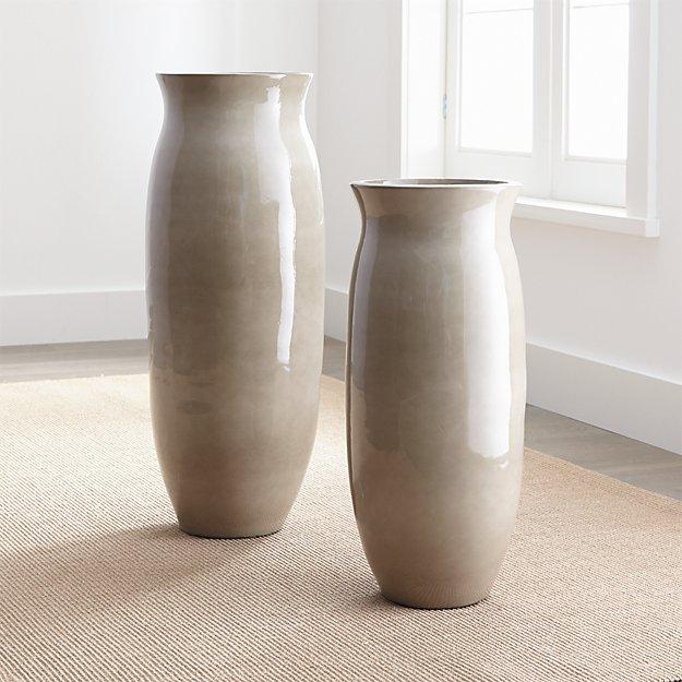 Hewett Short Ceramic Floor Vase Reviews Crate And Barrel