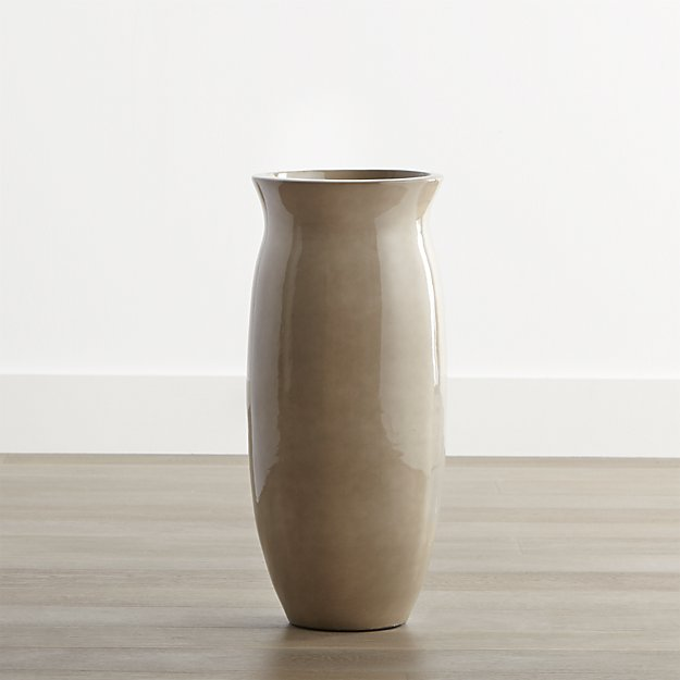 Hewett Short Ceramic Floor Vase Reviews Crate And Barrel