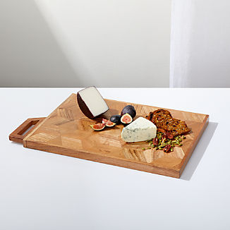Hex Inlay Wood Serving Board
