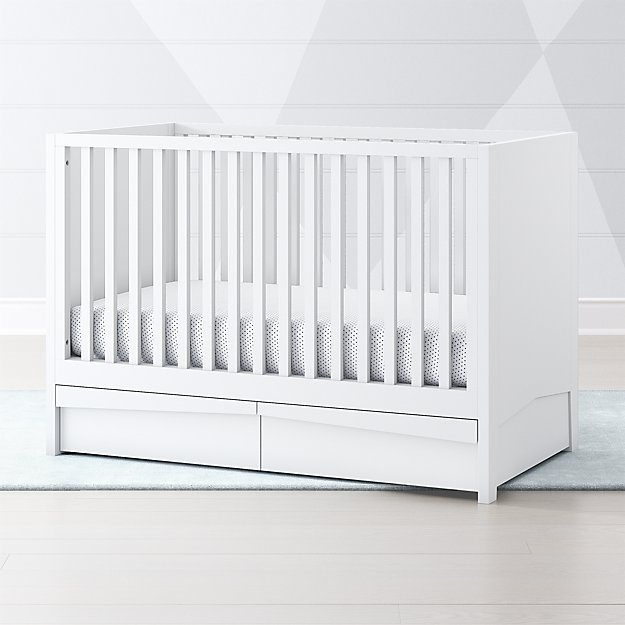 ba728ea8a White Hidden Storage Crib + Reviews