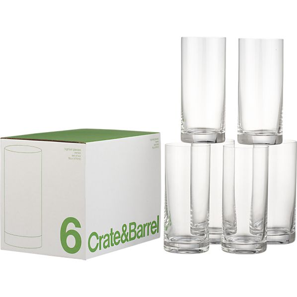 Set of 6 Highball Glasses