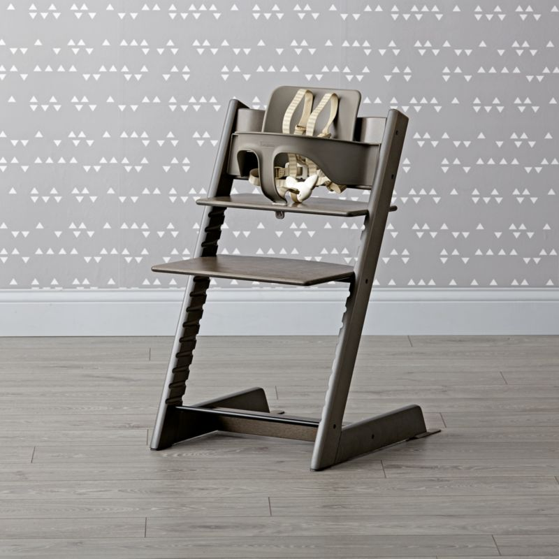 hazy grey stokke tripp trapp chair baby set reviews crate and barrel. Black Bedroom Furniture Sets. Home Design Ideas