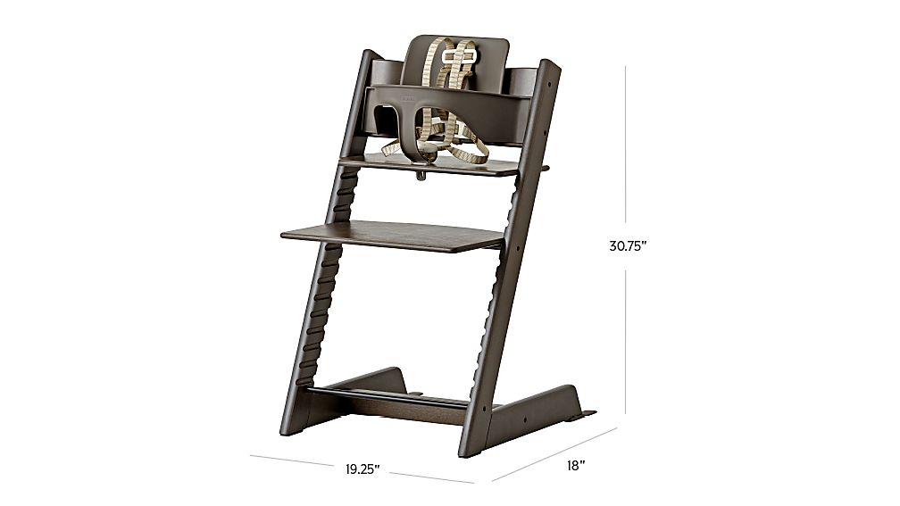 TAP TO ZOOM Image With Dimension For Hazy Grey Tripp Trapp® High Chair And  Baby Set™ From